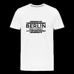 Berlin Kreuzberg T-Shirt (Herren Weiß/Used) - Männer Premium T-Shirt