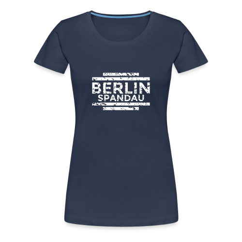 Berlin Spandau T-Shirt (Damen Navy/Used) - Frauen Premium T-Shirt