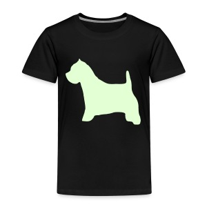 Kids' Premium T-Shirt - Glow In The Dark trykk, både foran og bak