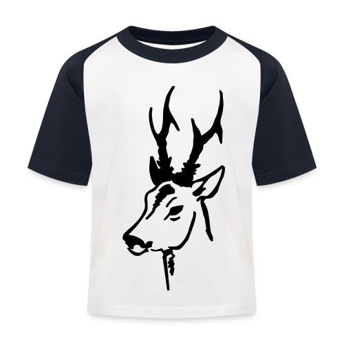 Kids' Baseball T-Shirt - Rådyr i svart fløyel