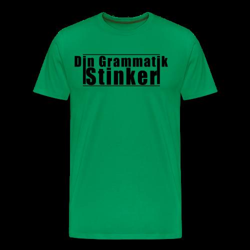 Din Grammatik Stinker (unisex) - Herre premium T-shirt