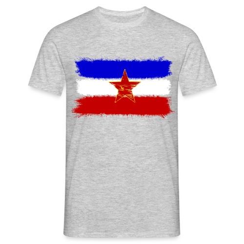 Jugoslawien Flagge + Tito ZItat (Herren) - Männer T-Shirt