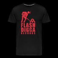 T-Shirts ~ Männer Premium T-Shirt ~ Flashdigga Shirt Rot/Schwarz