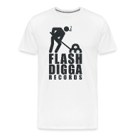 T-Shirts ~ Männer Premium T-Shirt ~ Flashdigga Shirt Schwarz/Weiss
