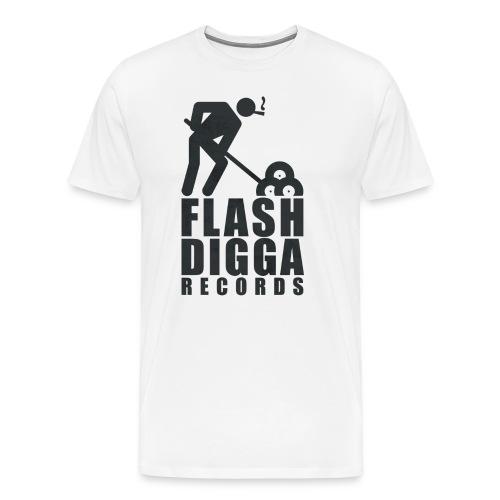 Flashdigga Shirt Schwarz/Weiss - Männer Premium T-Shirt
