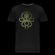 T-Shirts ~ Männer Premium T-Shirt ~ Tintenfischwurst Shirt Grün/Schwarz
