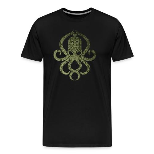 Tintenfischwurst Shirt Grün/Schwarz - Männer Premium T-Shirt