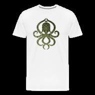 T-Shirts ~ Männer Premium T-Shirt ~ Tintenfischwurst Shirt Grün/Weiss