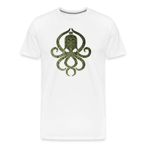 Tintenfischwurst Shirt Grün/Weiss - Männer Premium T-Shirt