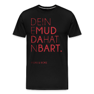 T-Shirts ~ Männer Premium T-Shirt ~ Deine Mudda Shirt Rot/Schwarz