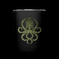 Tassen & Zubehör ~ Tasse einfarbig ~ Tintenfischwurst Tasse Grün/Schwarz