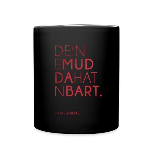 Deine Mudda Tasse Rot/Schwarz - Tasse einfarbig