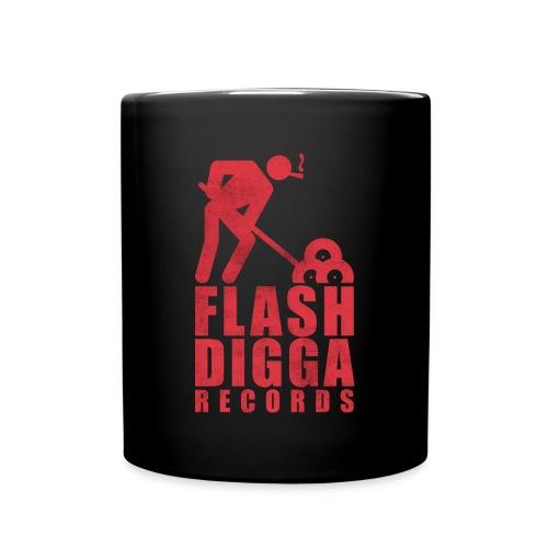 Flashdigga Tasse Rot/Schwarz - Tasse einfarbig