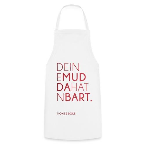 Deine Mudda Kochschürze Rot/Weiss - Kochschürze