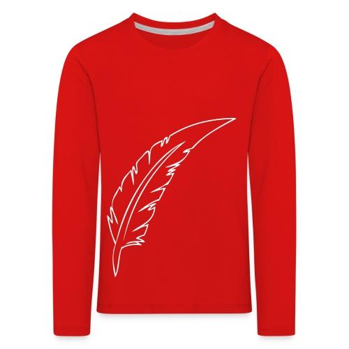 Plume Noir contours - T-shirt manches longues Premium Enfant