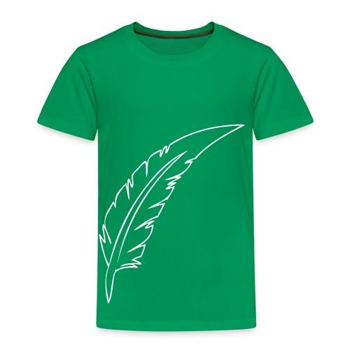 Plume Noir contours - T-shirt Premium Enfant