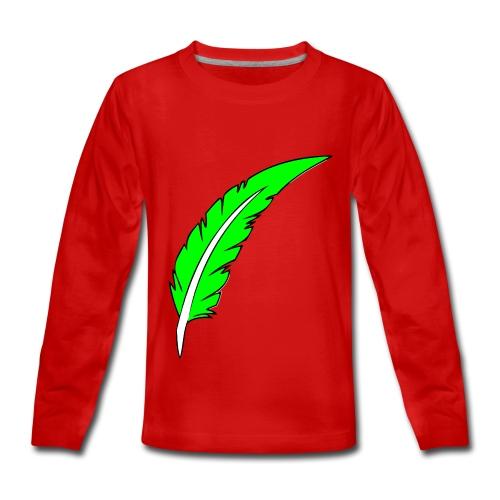Plume couleurs - T-shirt manches longues Premium Ado
