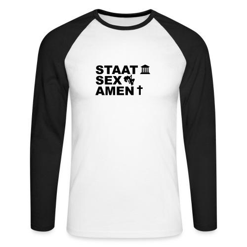 STAAT SEX AMEN =) - Männer Baseballshirt langarm