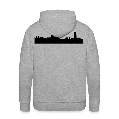 Skyline Antwerpen - Mannen Premium hoodie