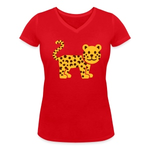 Luipaard - Vrouwen bio T-shirt met V-hals van Stanley & Stella