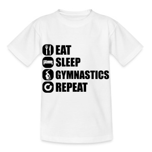 eat_sleep_gym_repeat_7_1f Shirts - Kinderen T-shirt