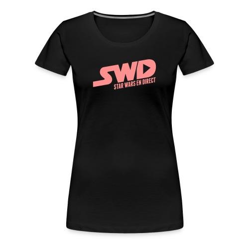 T-Shirt SWD Classique Rose (pour femme) - T-shirt Premium Femme
