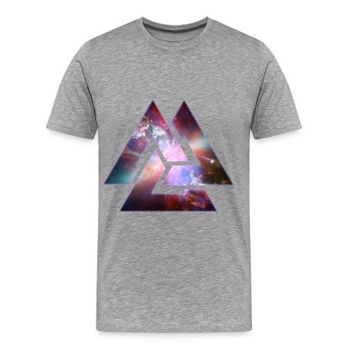 Space Library 3 Triangle T-Shirt - Men's Premium T-Shirt