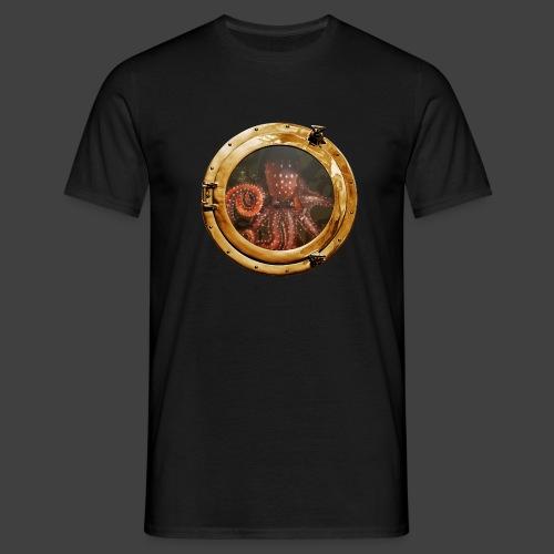 Steampunk-Kraken-Bullauge - Männer T-Shirt