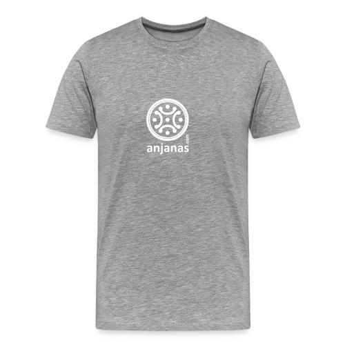 Gris americano chico logo blanco - Camiseta premium hombre