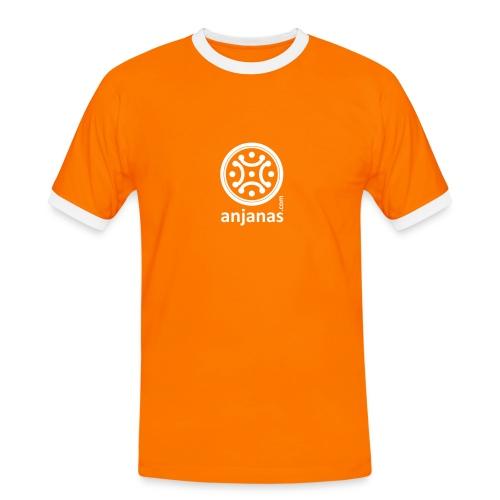 Naranja chico con bordes blancos - Camiseta contraste hombre