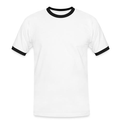 Marrón chico con bordes blancos - Camiseta contraste hombre