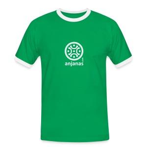 Verde chico con bordes blancos - Camiseta contraste hombre