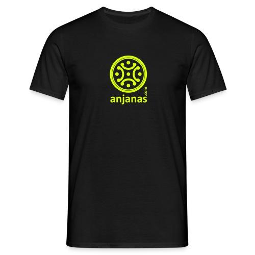 Camiseta de chico en negro con logo amarillo. - Camiseta hombre