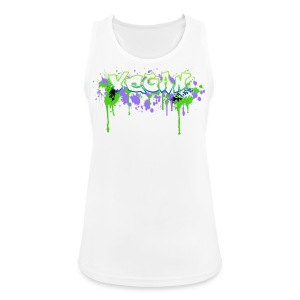Vegan 4Life Graffiti Splat Funktionsshirt - Frauen Tank Top atmungsaktiv