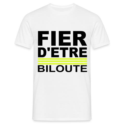 Tee shirt homme fier d'étre biloute - T-shirt Homme