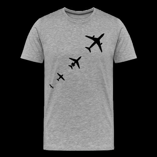 Flugzeug Evolution Shirt - Männer Premium T-Shirt