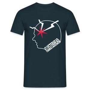 Clusterhead t-shirt for men, white logo - Men's T-Shirt