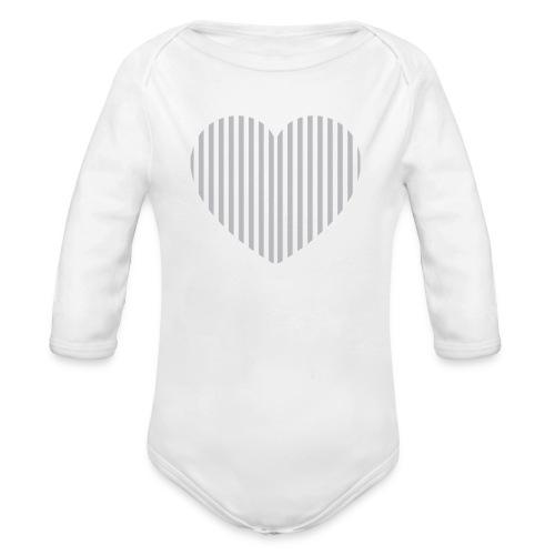 HEART BABY - Organic Longsleeve Baby Bodysuit