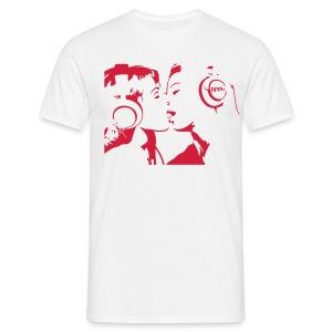 The Kissing Headphone Girls - Men's T-Shirt