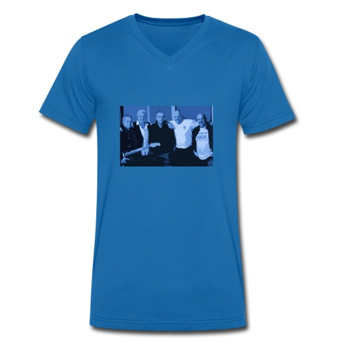 Sloe Train Band Pic Tee - Men's Organic V-Neck T-Shirt by Stanley & Stella
