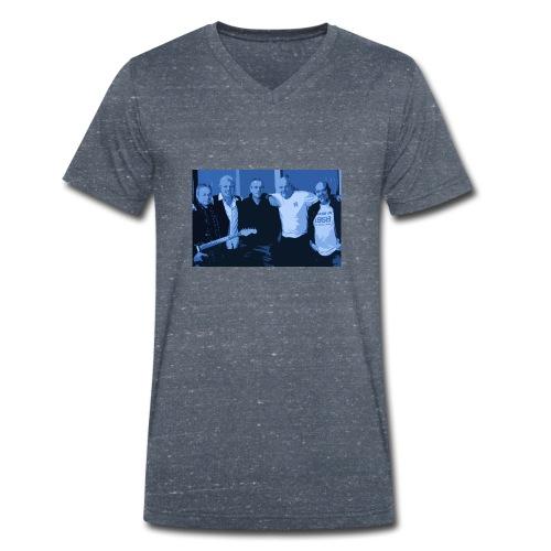 Sloe Train Band Pic Tee - Men's Organic V-Neck T-Shirt by Stanley & Stella