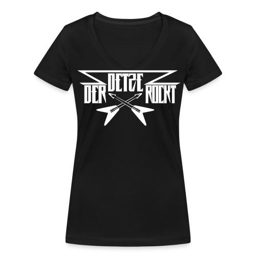 DDR - Frauen T-Shirt mit V Ausschnitt - Druck vorne  - Frauen Bio-T-Shirt mit V-Ausschnitt von Stanley & Stella
