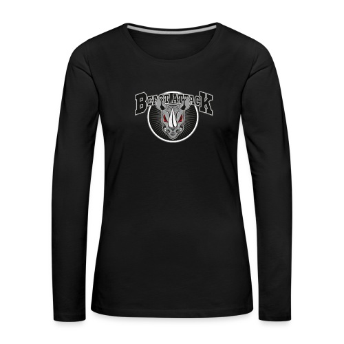 Beast Attack Nashorn Premium Longsleeve - Frauen Premium Langarmshirt