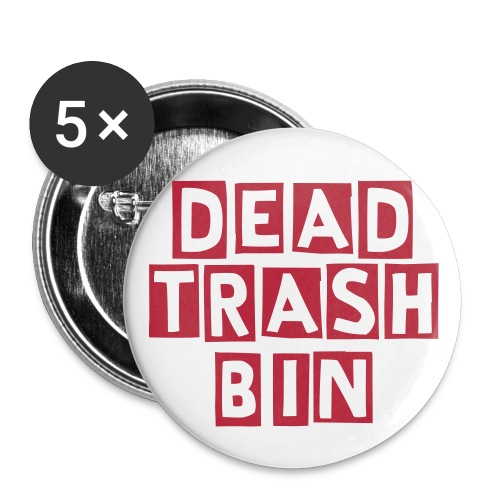 Dead Trash Bin Buttons - Buttons klein 25 mm