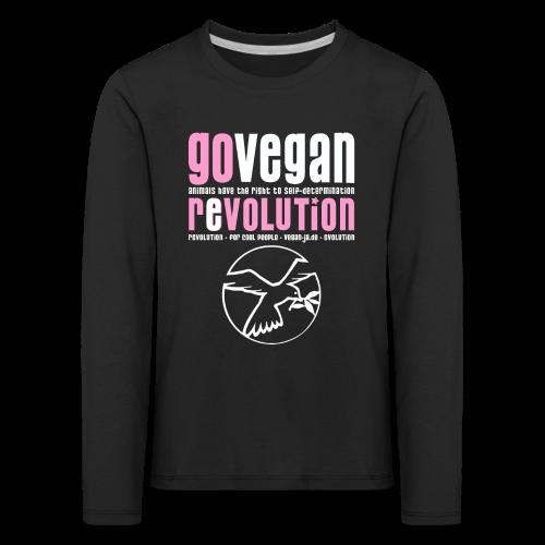 GO VEGAN REVOLUTION - Kinder Premium Langarmshirt