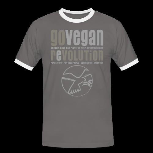 GO VEGAN REVOLUTION - Männer Kontrast-T-Shirt