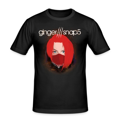 Men's Slim Fit T-Shirt - black,boy,dark,ginger snap5,gingersnap5,gs5,men