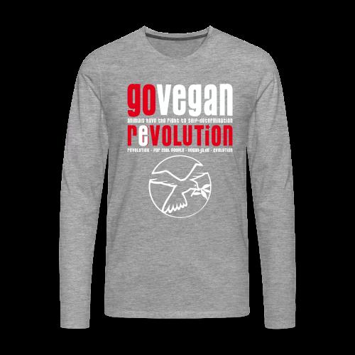 GO VEGAN REVOLUTION - Männer Premium Langarmshirt