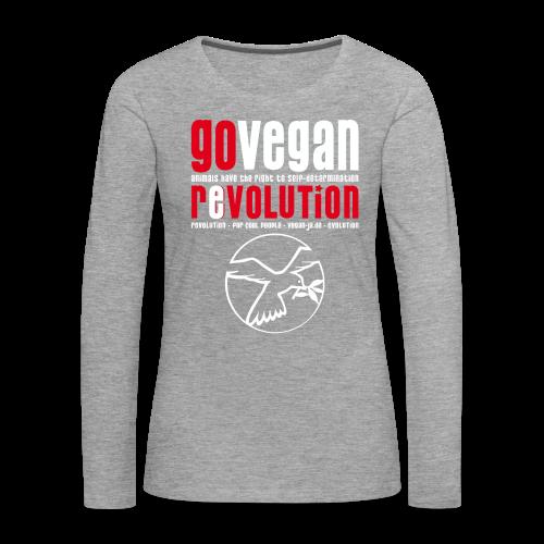 GO VEGAN REVOLUTION - Frauen Premium Langarmshirt