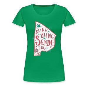 BLING BLING SHIRT (D) - Frauen Premium T-Shirt